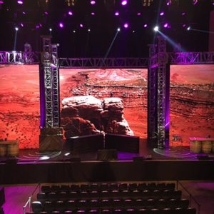 4K LED Wall, Meyer Line Arrays, Mac Auras